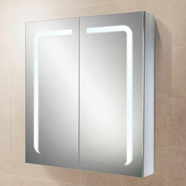 HIB Stratus 46900 700 x 600mm Steam Free LED Mirrored Cabinet