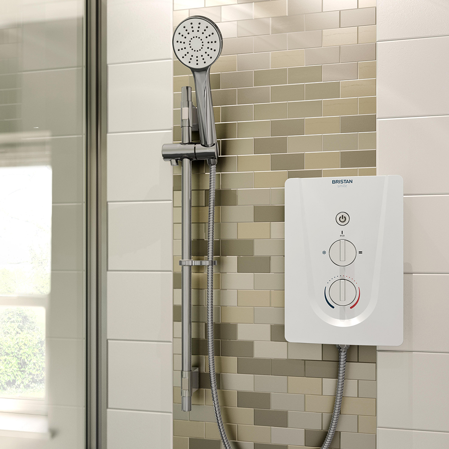 Bristan | Smile | SM385W | Electrical Shower | Lifestyle Image