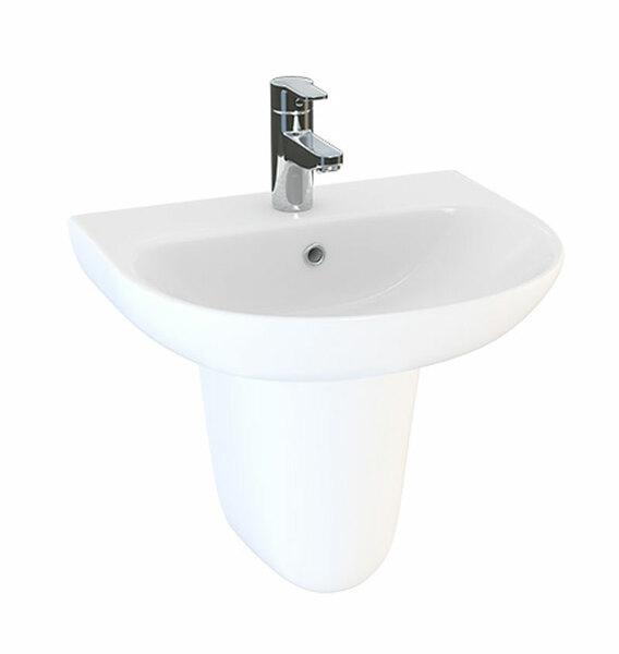 Lecico Designer Series 5 DS45BA1SETSP 450mm 1 Tap Hole Basin & Semi Pedestal Set