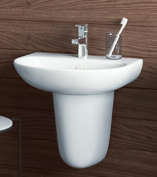 Lecico Designer Series 5 DS555BA2SET 550mm 2 Tap Hole Basin & Full Pedestal Set