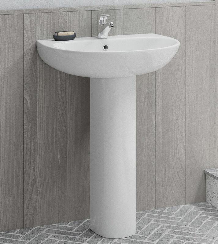 Lecico | Designer Series 5 | DS560BA1SET | Basin + Pedestal