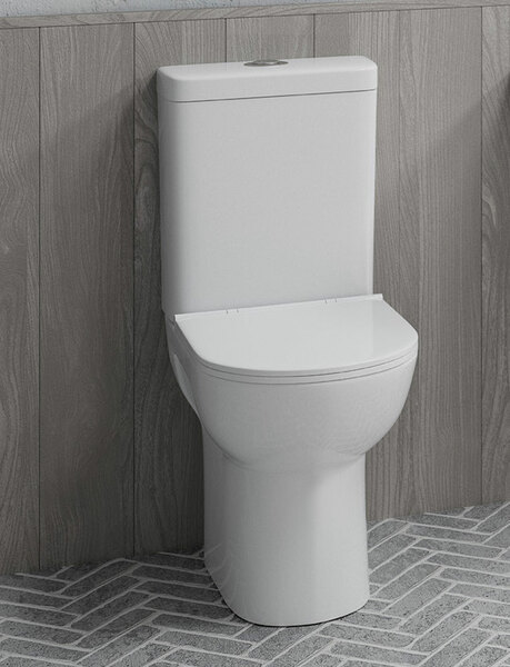Lecico Designer Series 5+ DS5CMFWCSETSC Raised Height Close Coupled Toilet