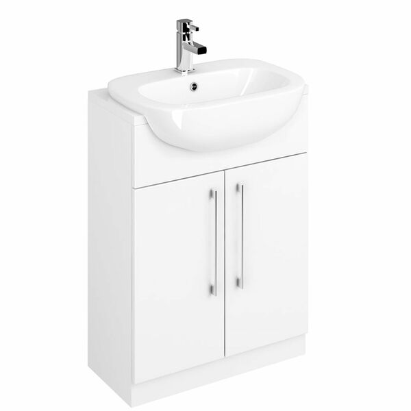 Lecico Stonely STOSRBUGW 600mm Basin Unit Gloss White