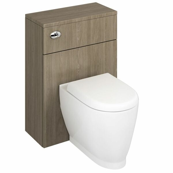 Lecico Stonely STOWCUGW 600mm Back to Wall WC Unit Gloss White (includes cistern)