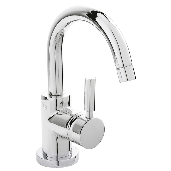 Hudson Reed Tec Single Lever PN386 Side Action Cloakroom Basin Mixer with push button waste