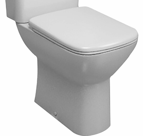 Lecico Atlas COMSQNPA Comfort Height Square Close Coupled Pan