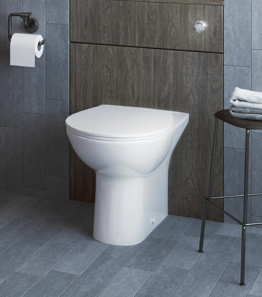 Lecico Designer Series 5 DS5BTWSETSC Back to Wall Pan & Seat Set