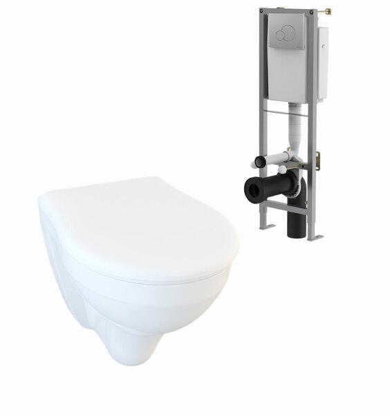 Lecico Designer Series 5 DS5WHNGSETSC Wall Hung Pan Seat & Frame Set