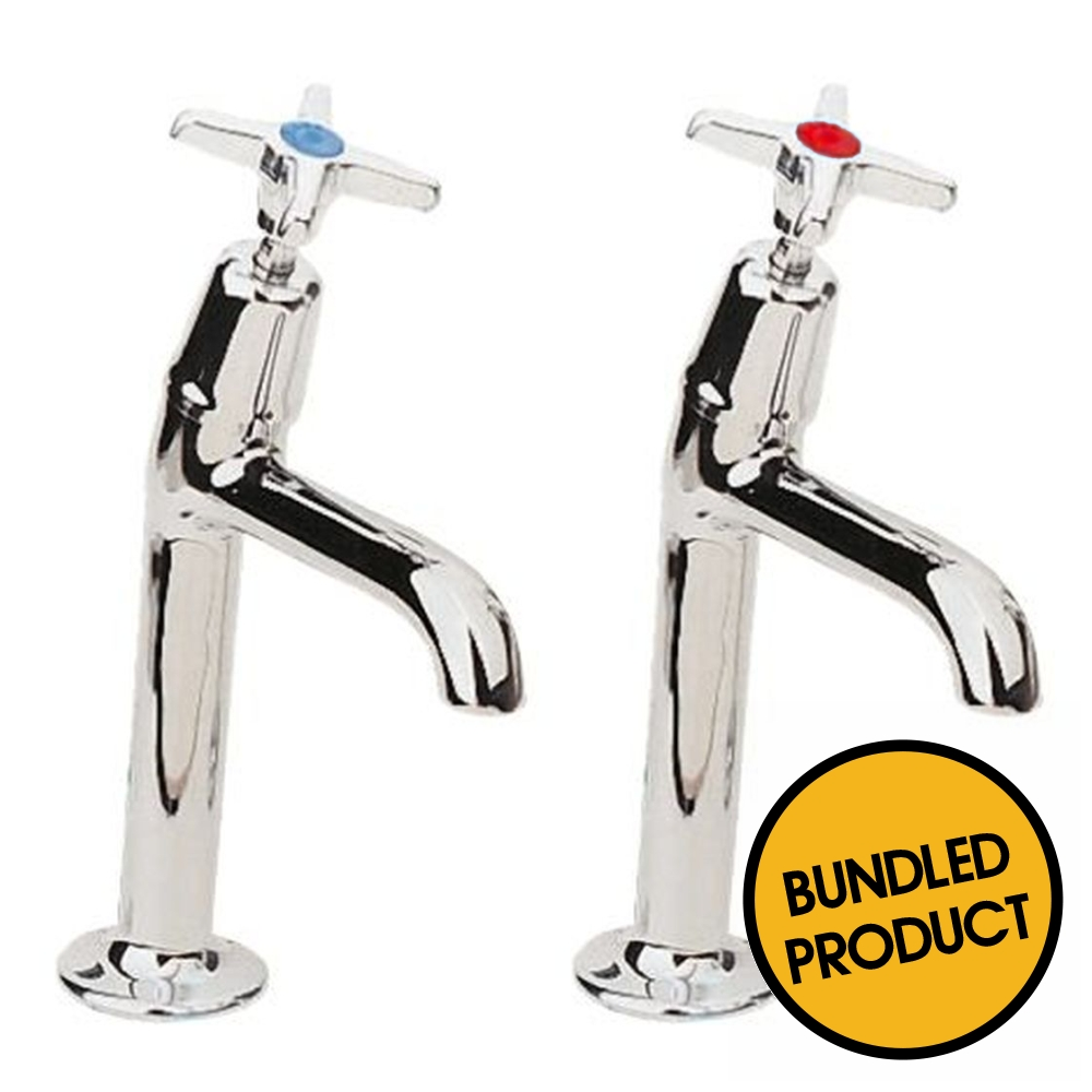 Pegler Performa 2158 (303017 + 303007) High Neck Kitchen Sink Taps - QKIT00026