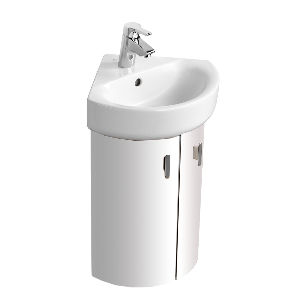 Ideal Standard | Concept | E6848WG | Gloss White | Corner Basin Unit