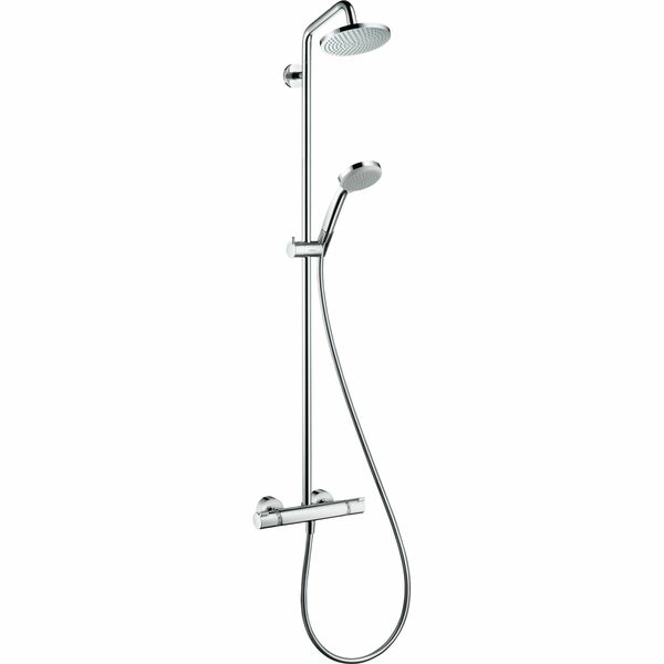 hansgrohe Croma 27135000 Showerpipe 160 1jet with thermostatic shower mixer