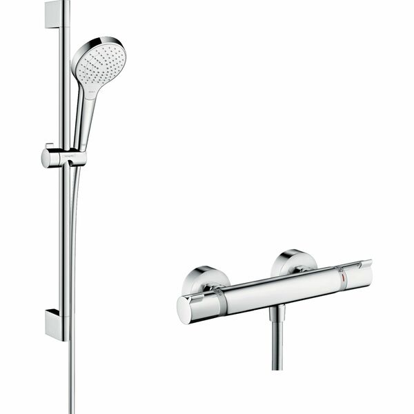 hansgrohe Croma Select S 27013400 Shower system 110 Vario with Ecostat Comfort thermostatic mixer and shower rail 65 cm