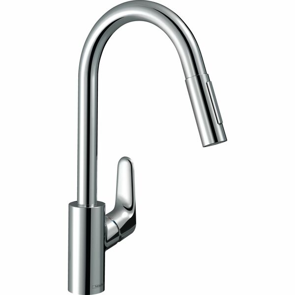 hansgrohe Focus 31815000 Single lever kitchen mixer 240 with pull-out spray