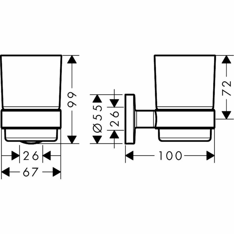 hansgrohe   Logis Universal   41718000   Tumbler   Technical Drawing