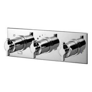 Ideal Standard Silver A5600AA 3 Control 3 Outlet Shower Valve With Plate And 3 Way Diverter Chrome