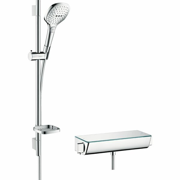 hansgrohe Raindance Select E 27038000 Shower system 120 with Ecostat Select thermostatic mixer and shower rail 65 cm