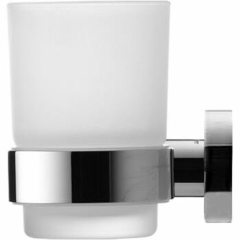 Duravit 009919 D-Code Glass Holder Glass On Left Chrome Frosted Glass