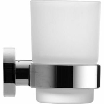 Duravit 009920 D-Code Glass Holder Glass On Right Chrome Frosted Glass