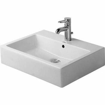 Duravit Vero 0454600060 600x470 No Tap Hole Countertop Basin