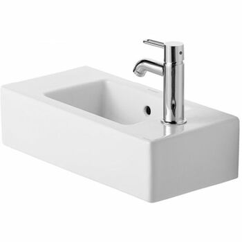Duravit Vero 0703500000 500x250 1 Tap Hole Wall Mounted Basin