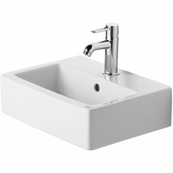 Duravit Vero 0704450060 450x350 No Tap Hole Wall Mounted Basin