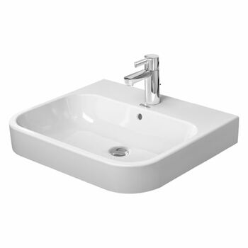 Duravit Happy D2 2318600000 600x505 1 Tap Hole Wall Mounted Basin