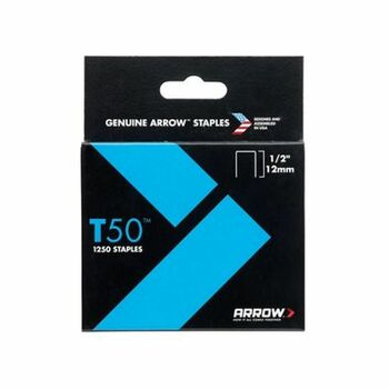 Arrow T5012S T50 Staples 12mm (1/2in) 1250 Pack