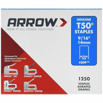 Arrow T50916 T50 Staples 14mm (9/16in) 1250 Pack