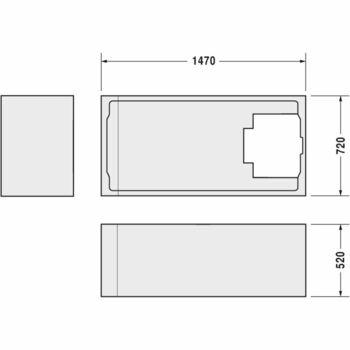 Duravit 790469 Duravit Support For D-Code Bath 1500X750