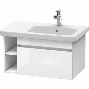 Duravit Durastyle DS639302222 730x398 Wall Mounted Right Hand Vanity Unit White High Gloss