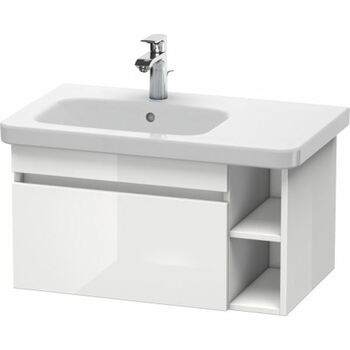 Duravit Durastyle DS639402222 730x398 Wall Mounted Left Hand Vanity Unit White High Gloss
