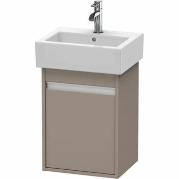 Duravit Ketho KT6630L4343 400x550 Wall Mounted Left Hand Vanity Unit Basalt Matt