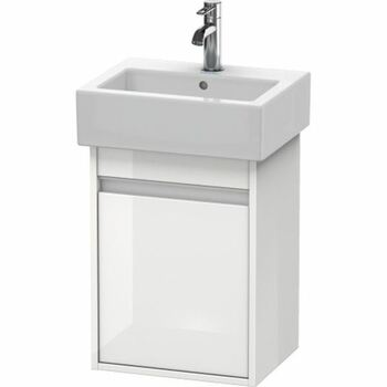 Duravit Ketho KT6630R2222 400x550 Wall Mounted Right Hand Vanity Unit White High Gloss