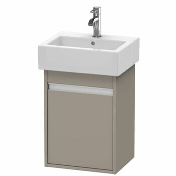 Duravit Ketho KT6630R4343 400x550 Wall Mounted Right Hand Vanity Unit Basalt Matt