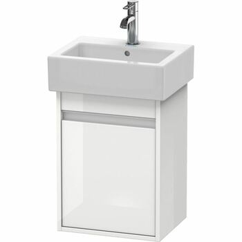 Duravit Ketho KT6630L2222 400x550 Wall Mounted Left Hand Vanity Unit White High Gloss