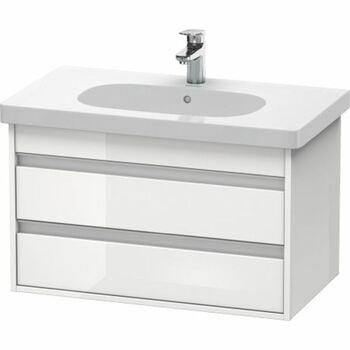 Duravit Ketho KT664702222 800x480 Wall Mounted Vanity Unit White High Gloss