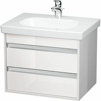 Duravit Ketho KT665002222 600x480 Wall Mounted Vanity Unit White High Gloss