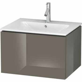Duravit L-Cube LC614008989 620x400 Wall Mounted Vanity Unit Flannel Grey High Gloss