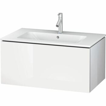 Duravit L-Cube LC614102222 820x400 Wall Mounted Vanity Unit White High Gloss