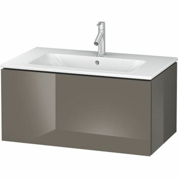Duravit L-Cube LC614108989 820x400 Wall Mounted Vanity Unit Flannel Grey High Gloss