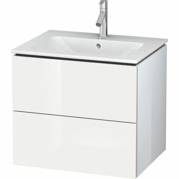 Duravit L-Cube LC624002222 620x550 Wall Mounted Vanity Unit White High Gloss