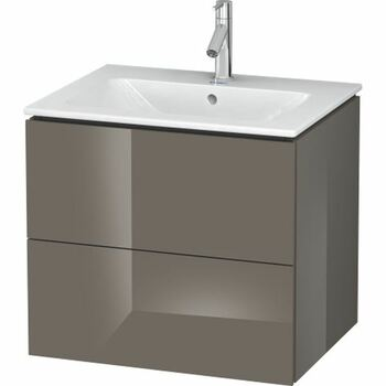 Duravit L-Cube LC624008989 620x550 Wall Mounted Vanity Unit Flannel Grey High Gloss