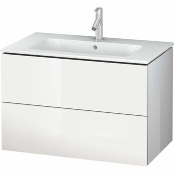 Duravit L-Cube LC624102222 820x550 Wall Mounted Vanity Unit White High Gloss