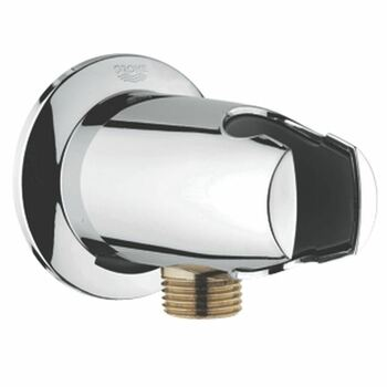 Grohe 28406 Movario Shower Outlet Elbow & Holder Chrome