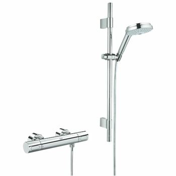 Grohe 34275 Grohtherm 3000 Exposed Thermostatic Shower Valve Complete With Cosmopolitan Shower Set Chrome