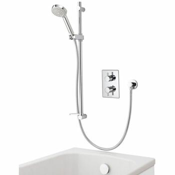 Aqualisa Dream DRMDCV004 Dual Control Valve Divert Mixer Shower With Adjustable Head & Bath Overflow Filler