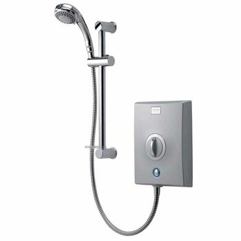 Aqualisa QZE8501 Quartz Electric Shower 8.5kw with Adjustable Height Head Chrome