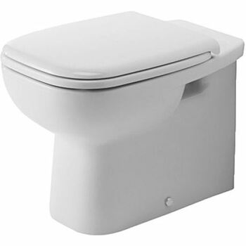 Duravit D-Code 211509 Floor Standing Back to Wall Pan White