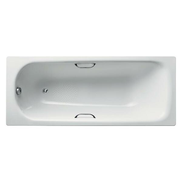 Armitage Shanks Sandringham 21 S183801 1700 x 700 No Tap Hole Twin Grip Anti Slip Steel Bath