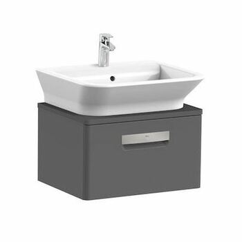 Roca The Gap A856966153 550mm Basin Unit Anthracite Grey